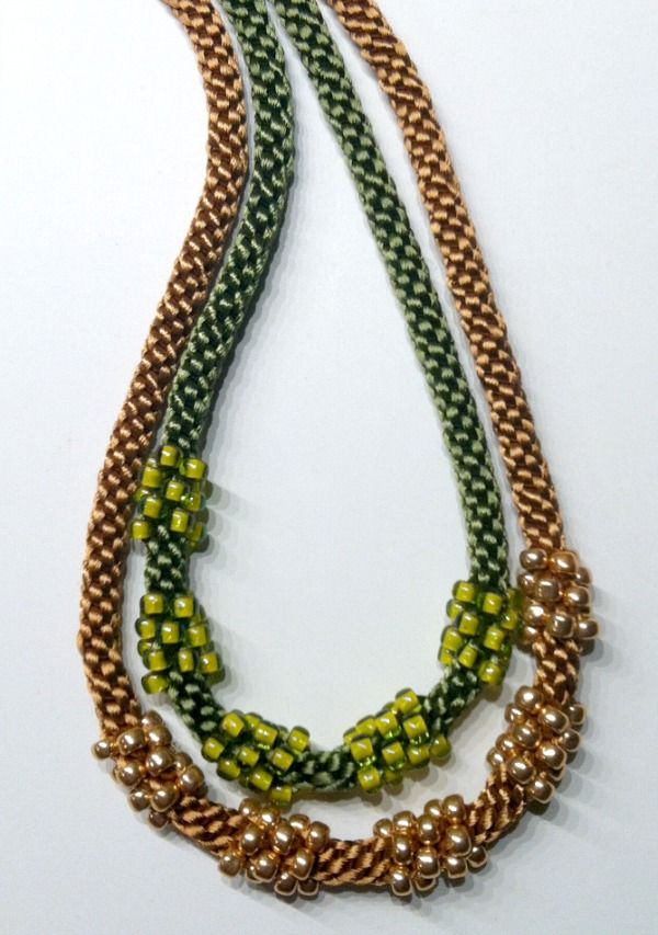 Kumihimo Jewelry Free Patterns | Cluster Bead Necklace Kits - 2 New ...