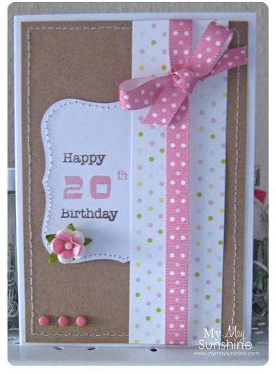 20th Birthday Card Diy Birthday Gifts For Friends Birthday Cards For Women Birthday Cards