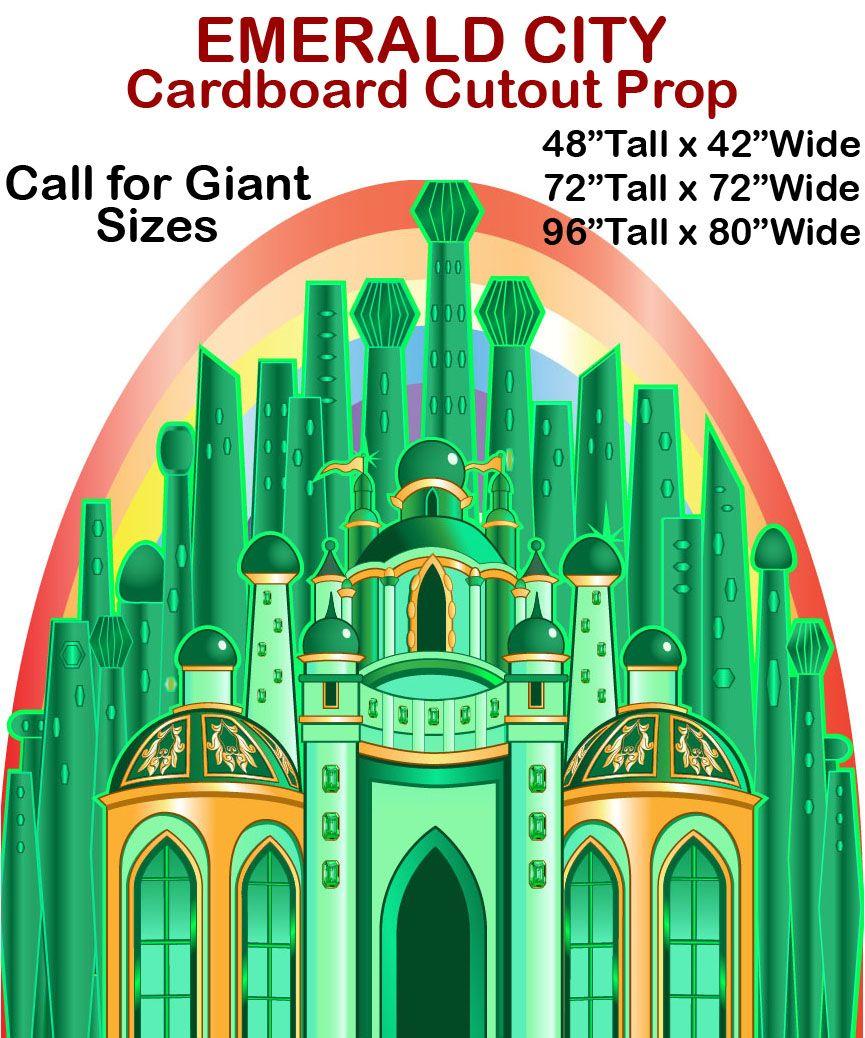 Emerald City Cardboard Cutout Standup Prop This Emerald City