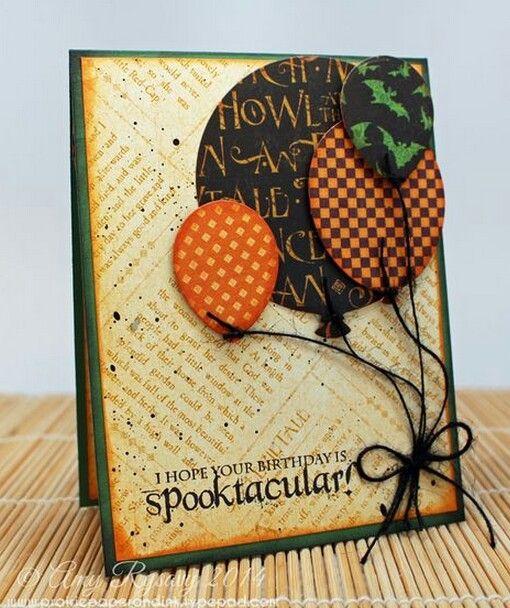 Pin By Susan Tuttle On Birthdays Pinterest Halloween Cards