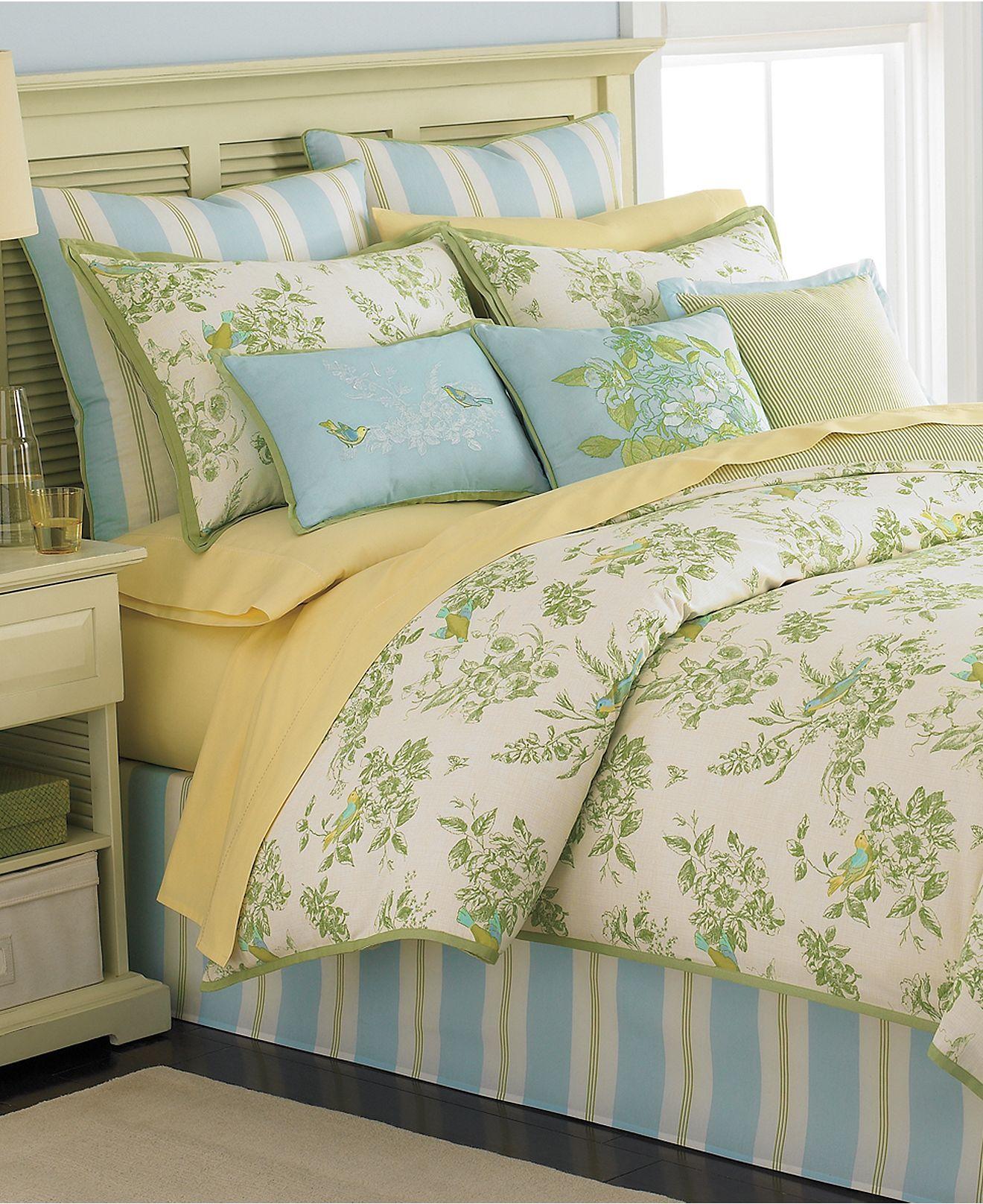 Martha Stewart Collection Bedding, Bluebird Garden 6 Piece ... on Martha Stewart 6 Piece Patio Set id=18408