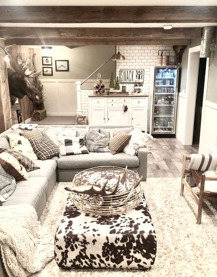 amazing living room furniture for best apartment and house designs | 15 Amazing Finished Basement Design Ideas | Basement ...