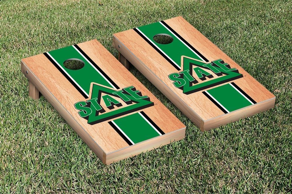 Delta State Fighting Okra Hard Court w/ Varsity Stripe Cornhole Game