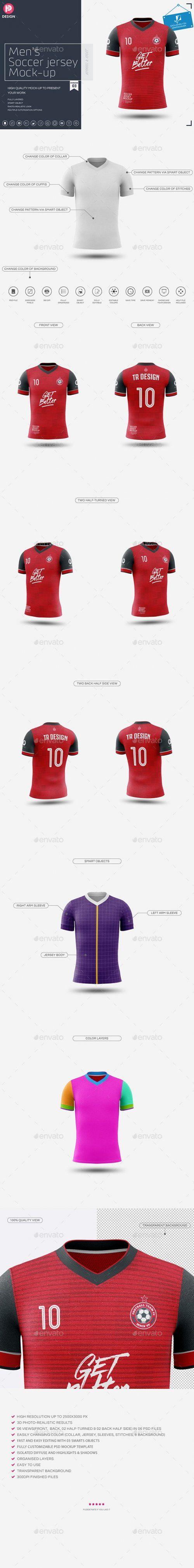 Download Graphicriver Men S Soccer Jersey Mockup V3 24206939 Soccer Jersey Soccer Mockup