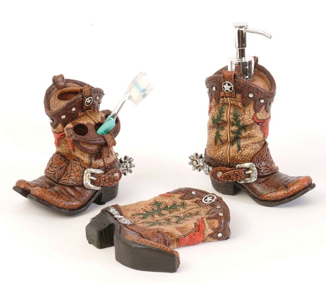 Boot Bathroom Accessories. Western ...
