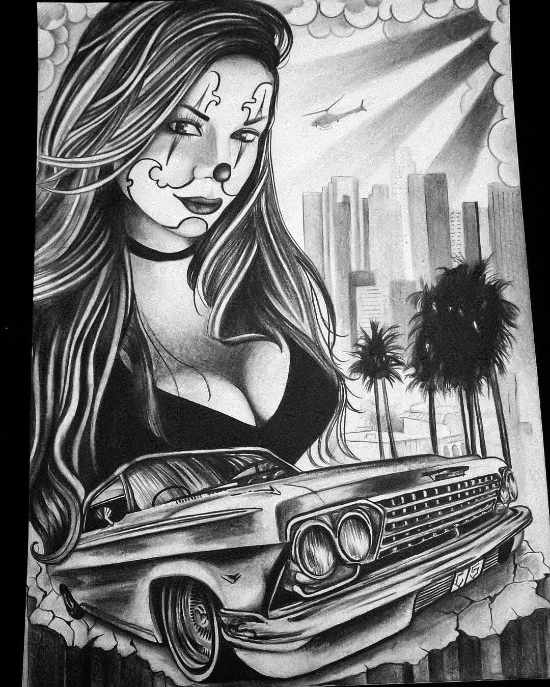 Projet bueno chicano drawings chicano tattoos chicano art tattoos - Brown pride lowrider ...