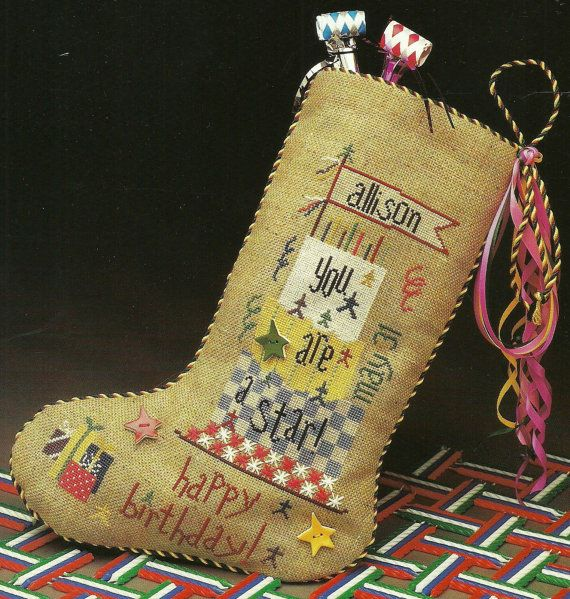 Heart in Hand Birthday Stocking You Are A Star by carolinagirlz2