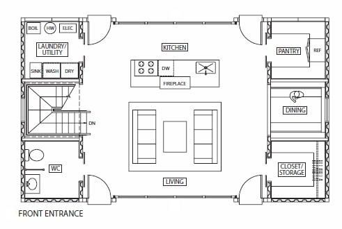 3 2 1 go instant shipping container house house for 12 container house floor plan