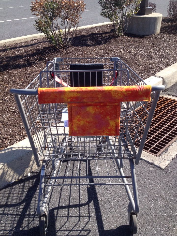 Cart Handle Cover : handle, cover, Shopping, Handle, Cover,, Covers,, Cover, Orange, Print, Handy, Cart,
