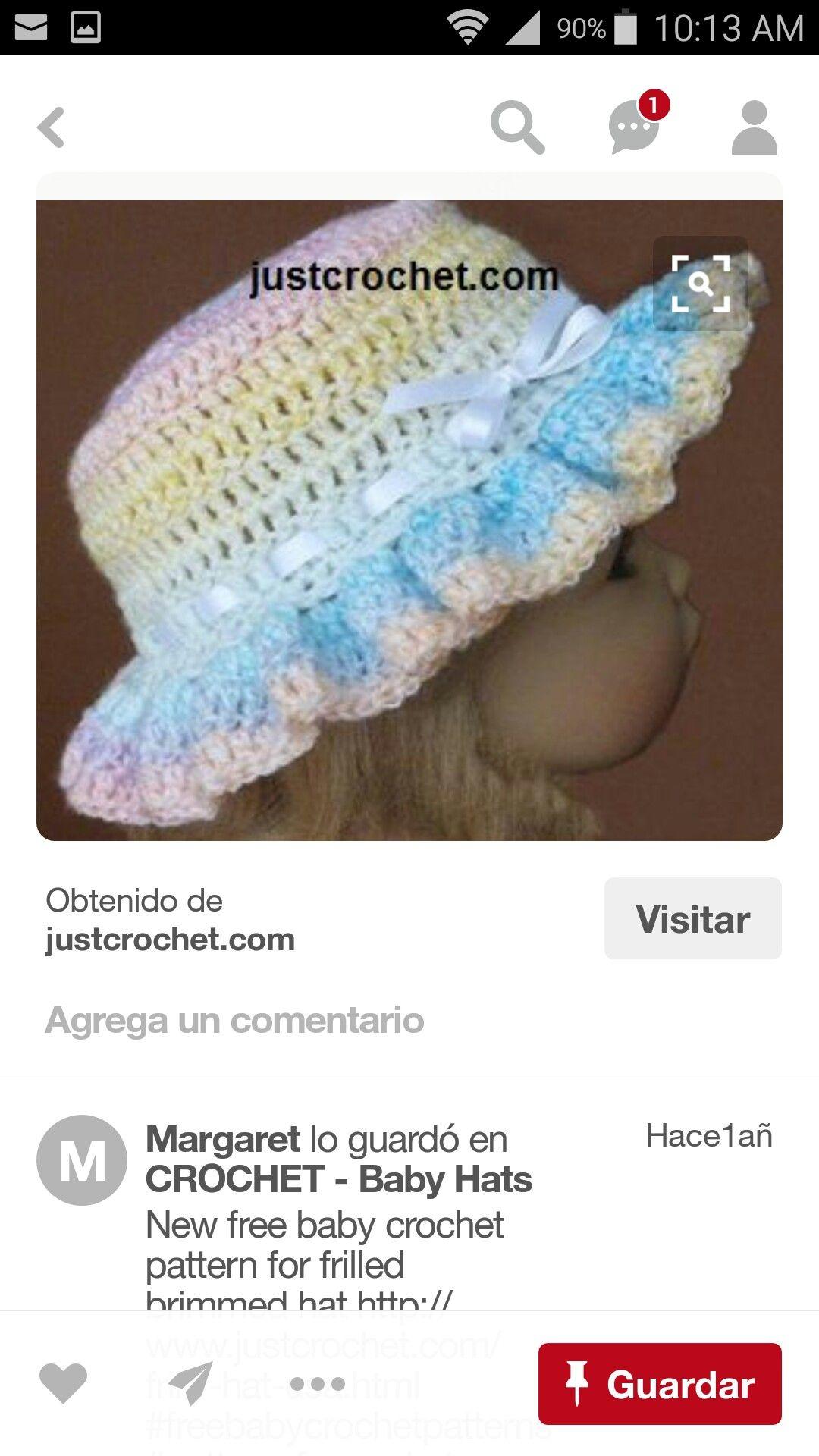 Dorable Patrones De Ganchillo Para Sombreros De Peón Friso - Manta ...