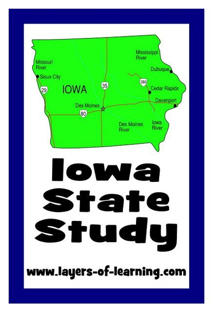 U S State Maps With Images Iowa Iowa State 4th Grade Social