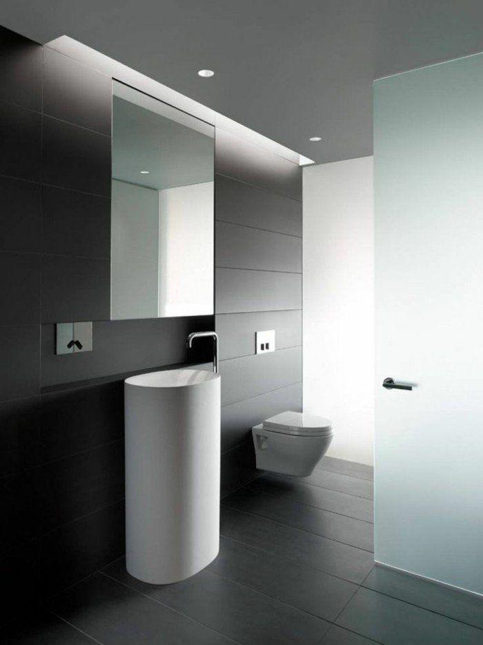 La beauté de la salle de bain noire en 44 images! Toilet and House