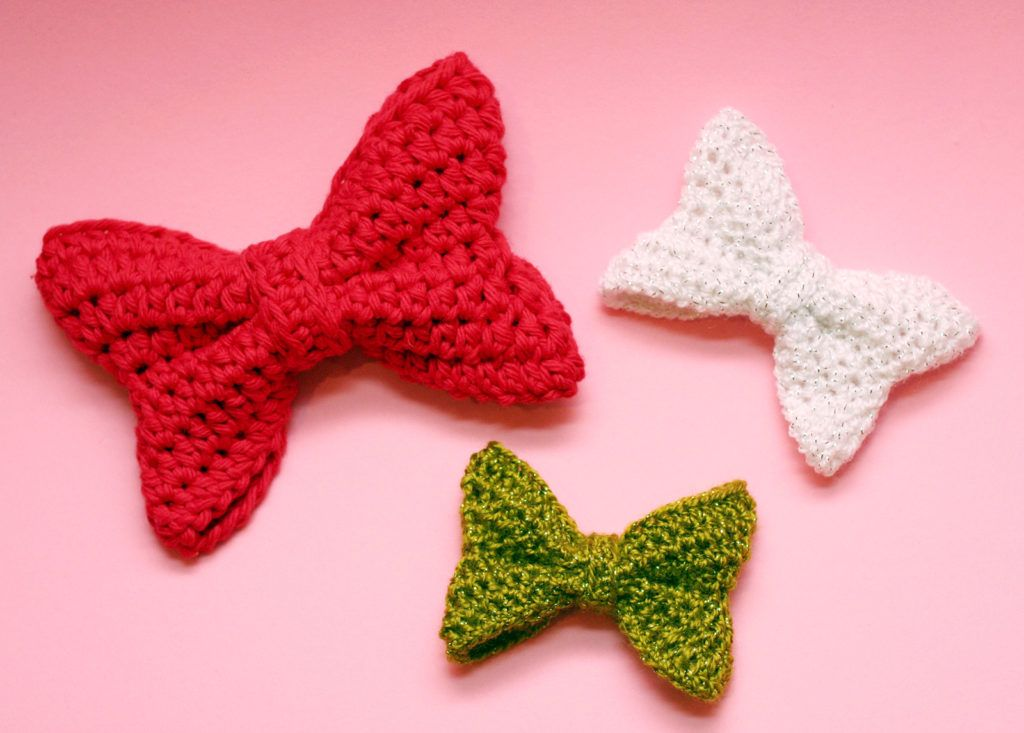 bows #pattern #free by Twinkie Chan | Crochet | Pinterest | Ganchillo