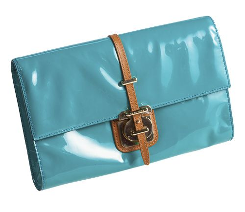 Turquoise clutch, Boss Black