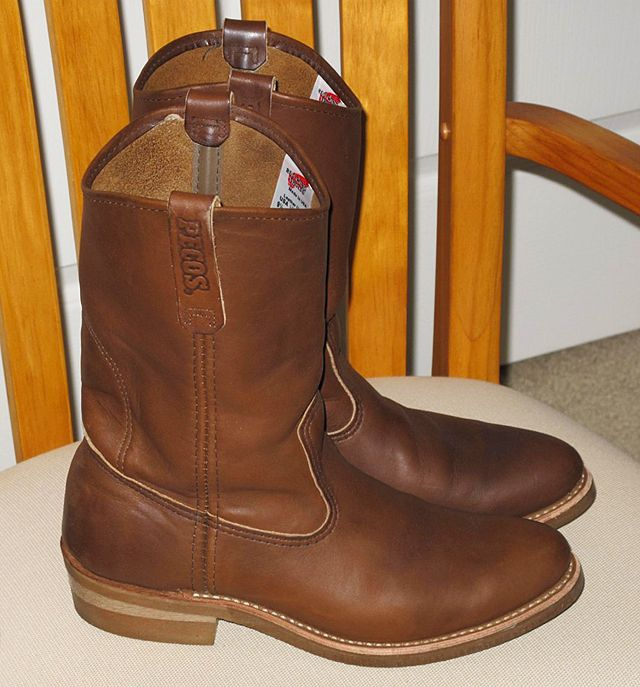 Red wing pull on work cowboy boots | Work boots | Pinterest ...