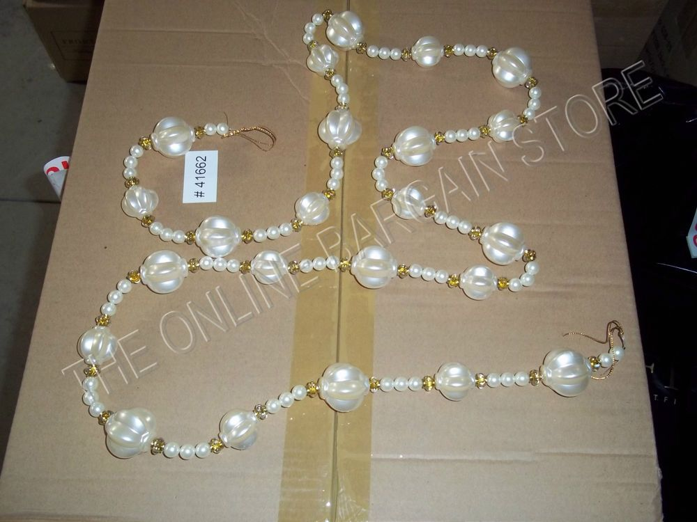 Frontgate Christmas Tree Pearl Crystal Garland Chandelier