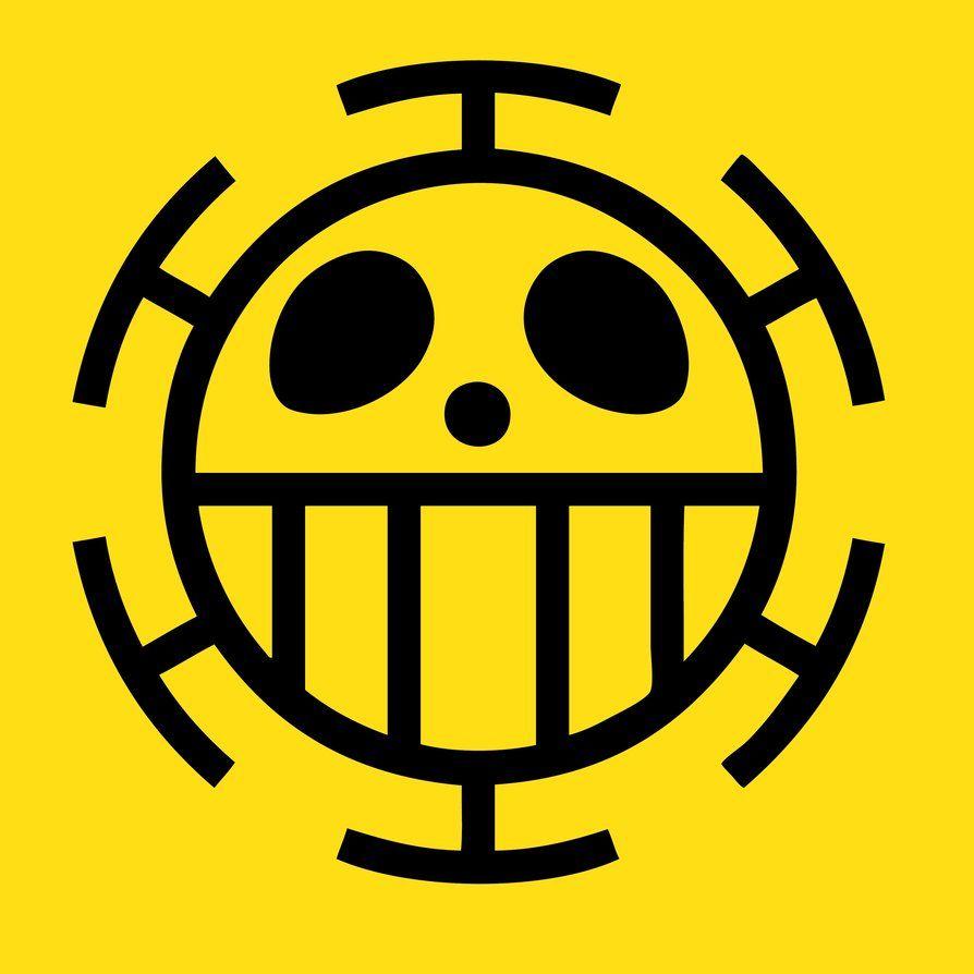 One Piece Trafalgar Law Flag Emblem C Eiichiro Oda Trafalgar Law One Piece Logo One Piece