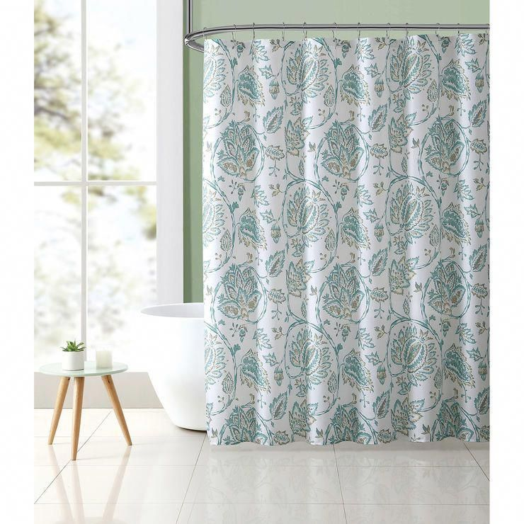 Jessica Paisley Green Shower Curtain Set In 2020 Green Shower