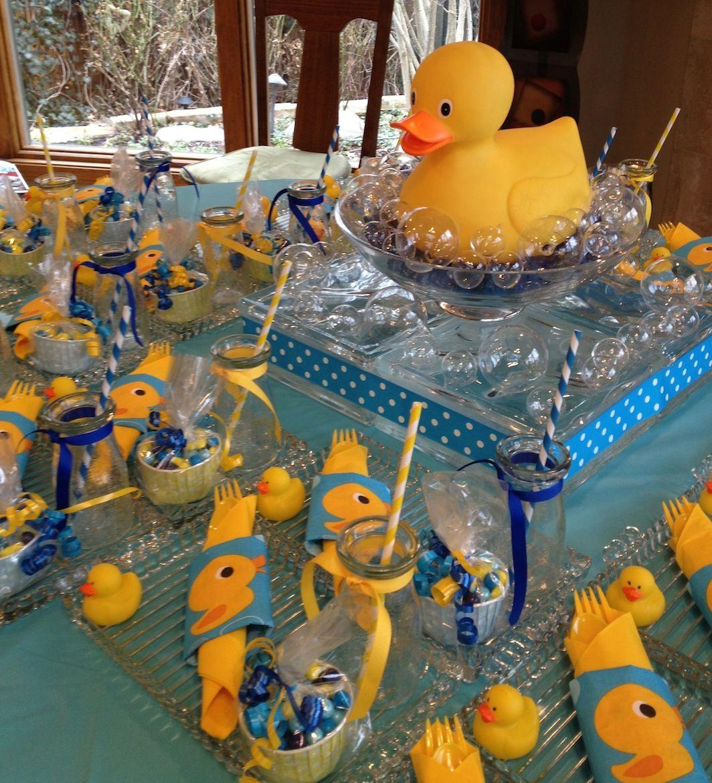 Rubber Duck Baby shower centerpiece.