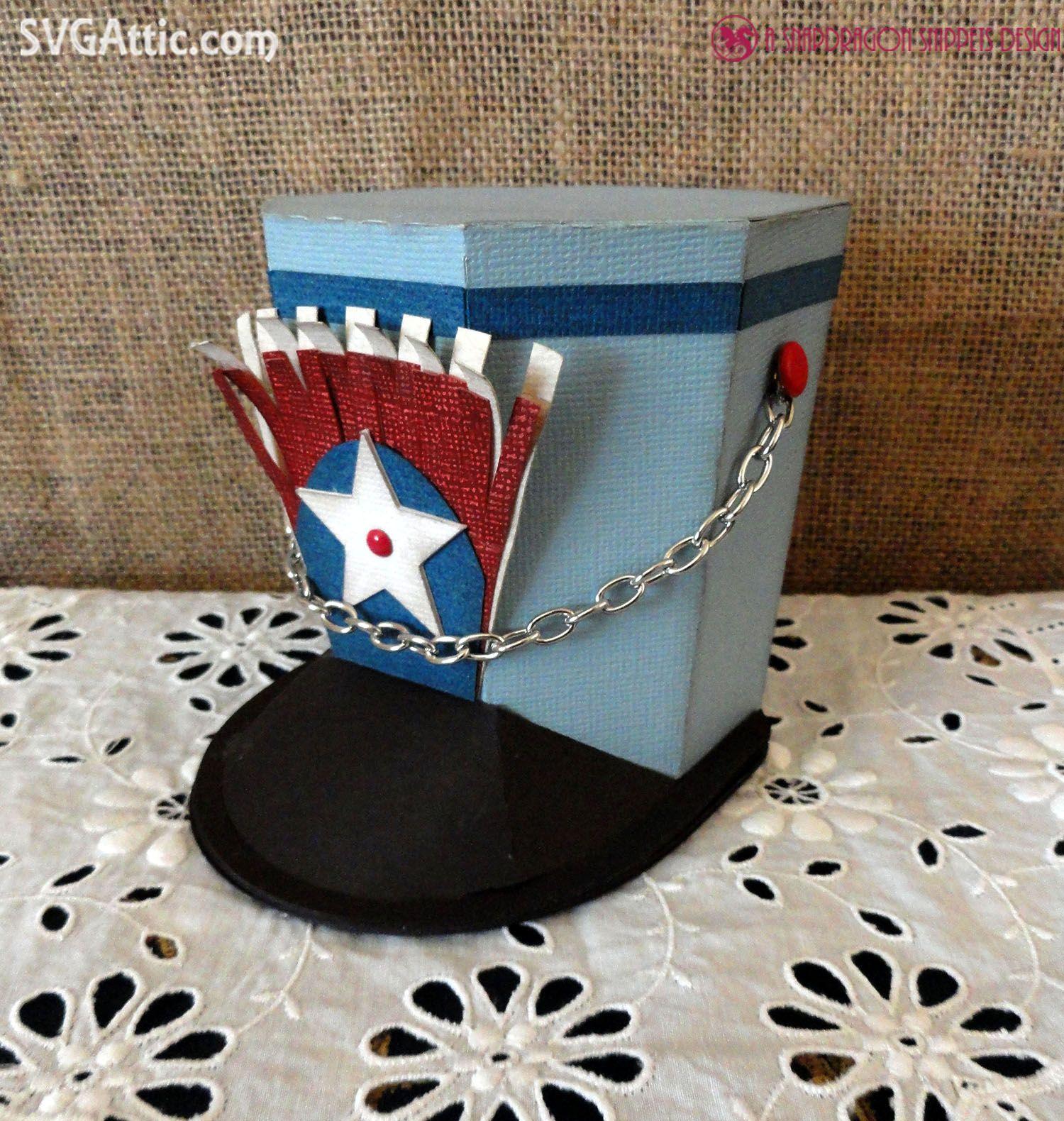Drum Major Hat Box From JGW Patriotic Celebration Svgattic Svg
