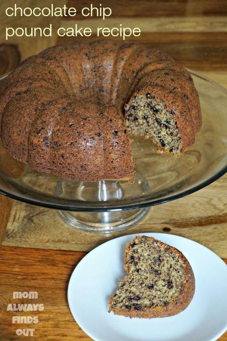 Chocolate Chip Vanilla Pound Cake Recipe