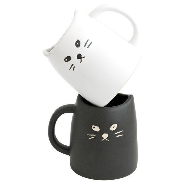 Cat Mug Black Amp White By Miya Kawaii Productdesign