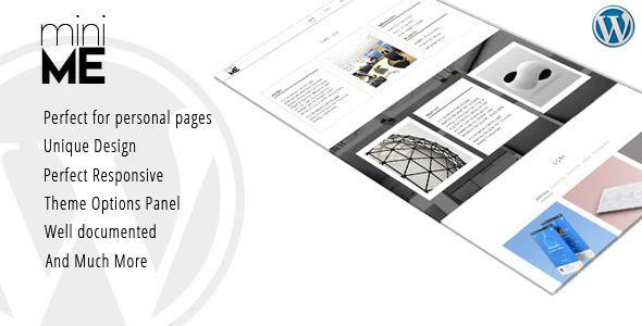 miniME - Personal Resume and Portfolio Theme Wordpress, Portfolio