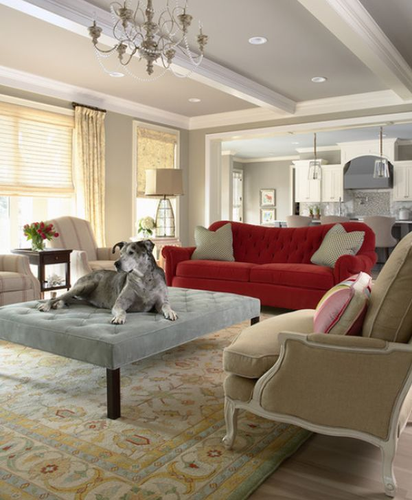Great Planning A Room Around A Non Neutral Sofa