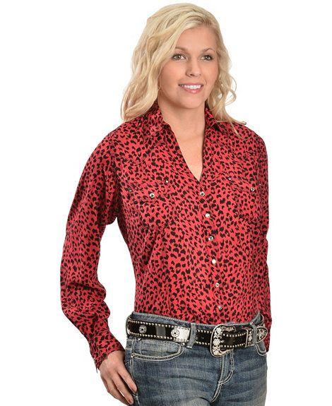 abfe7b25 Wrangler Rock 47 Cheetah Print Western Shirt - Sheplers | Cowgirl ...