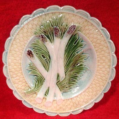 Antique+French+Majolica+Asparagus+Plate+Salins-les-Bains,+fm861
