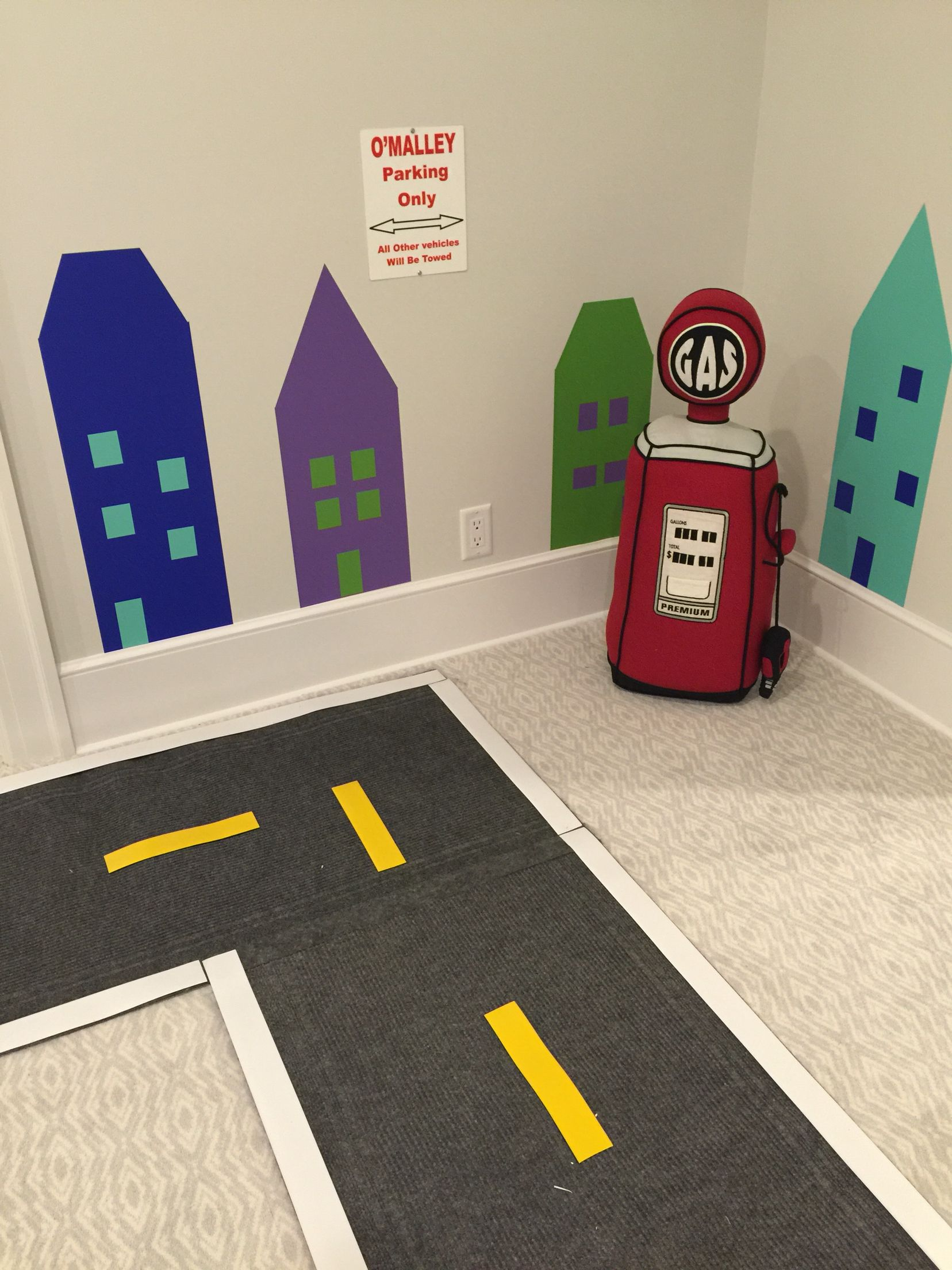 Great car track for kids! Custom design by Smart Playrooms in NY! www.smartplayrooms.com