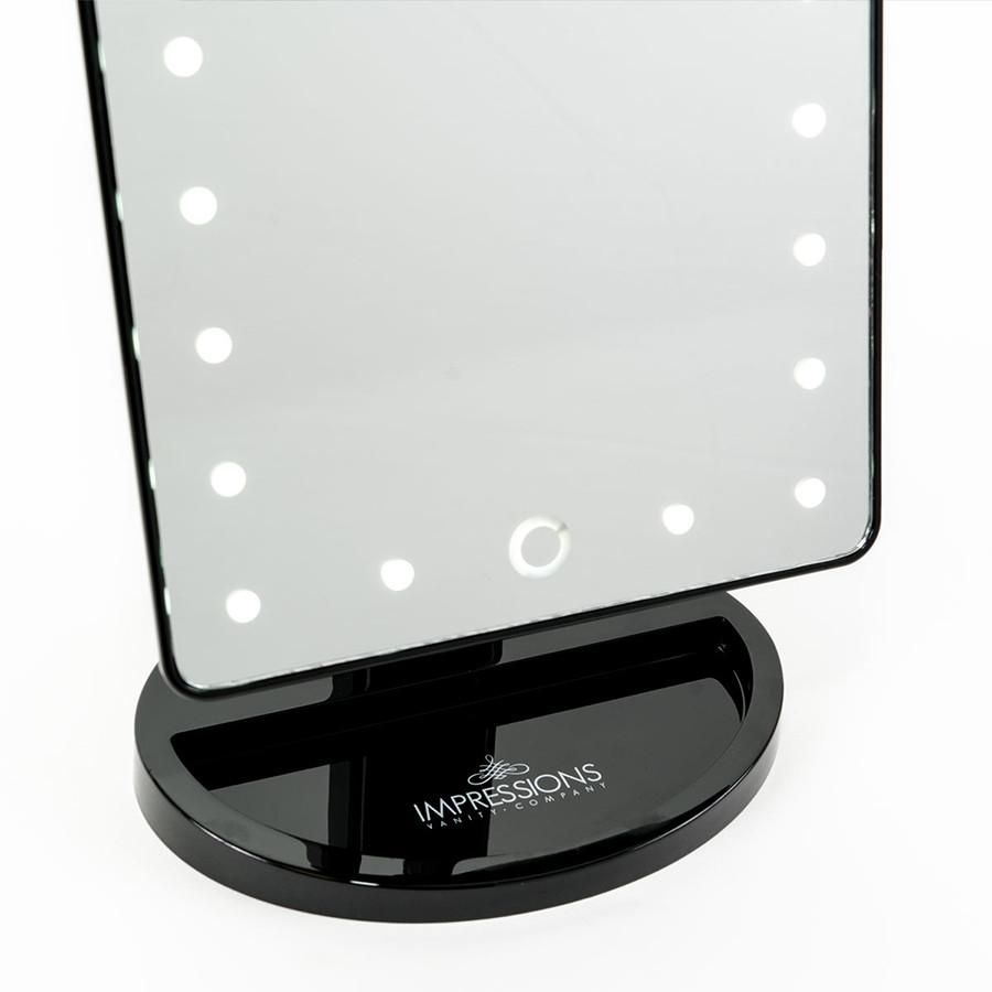 Touch dimmable led makeup mirror in high gloss products