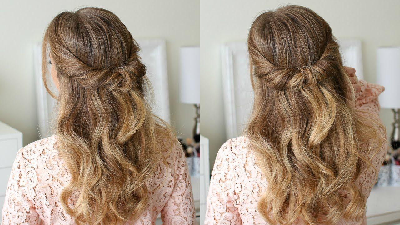 Looped Half Updo Missy Sue Youtube Half Updo Hairstyles Long Hair Updo Missy Sue Hair
