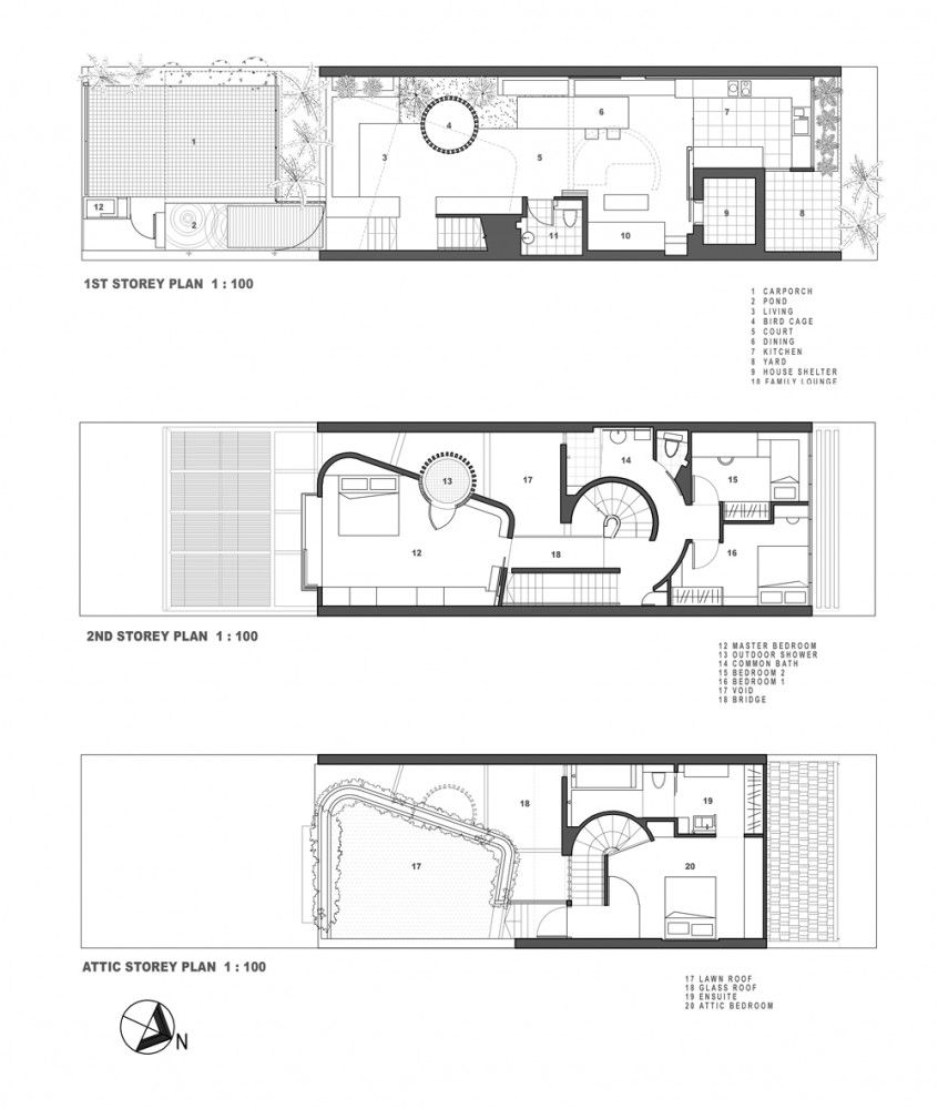 Alleyway House Formwerkz Architects Architectural Floor Plans Craftsman Floor Plans Villa Plan