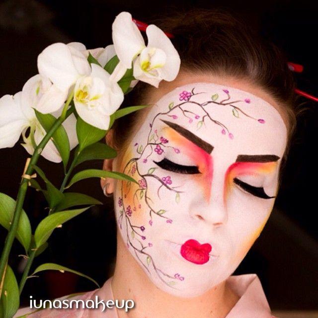 Geisha makeup | Halloween ideas | Pinterest | Geisha makeup ...