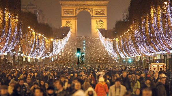 Thousands Of Revellers Celebrate The New Year On The