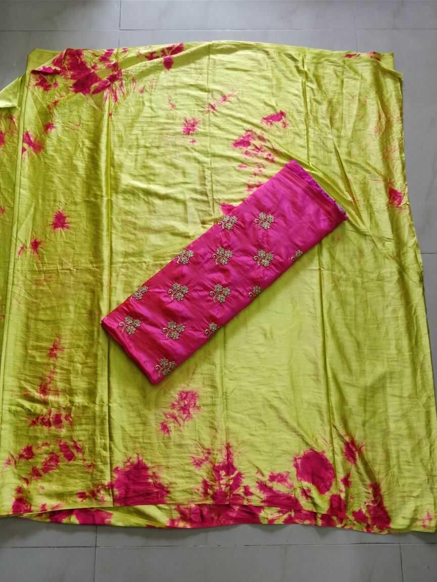 satin shibori sarees withhdesigner blouse | kal | saree, blouse