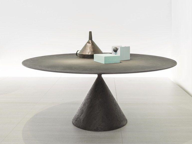 Tavolo Desalto ~ Round stone table clay stone table desalto furniturs