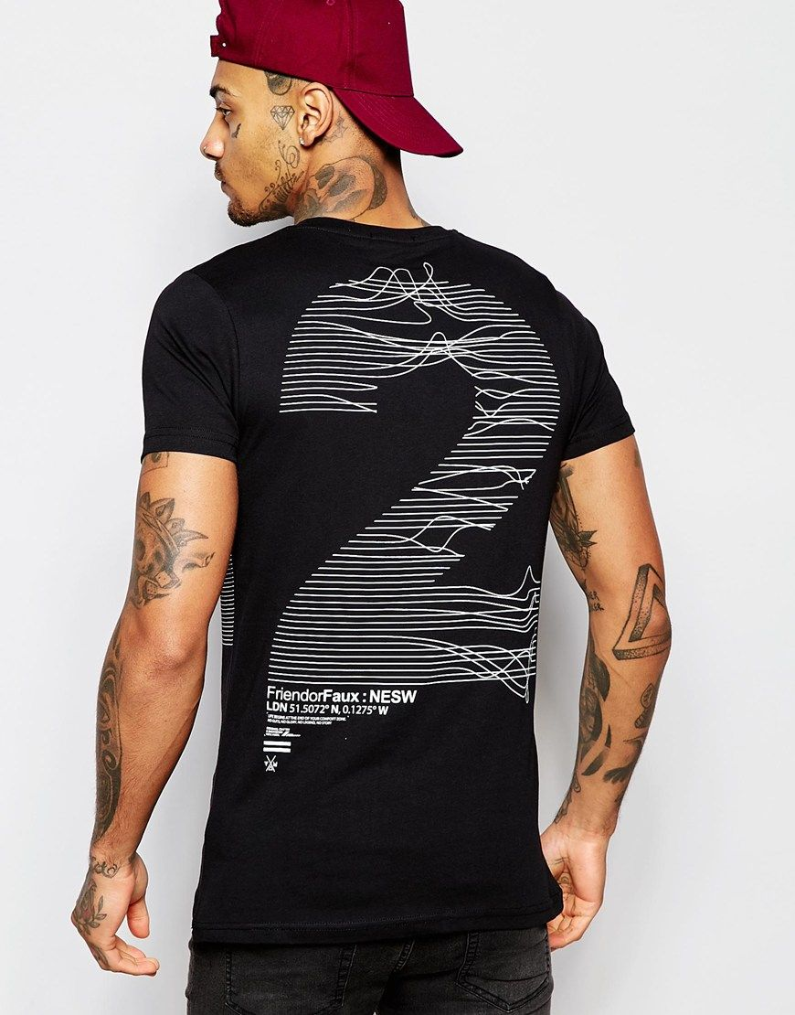 Shirt design utah - Image 1 Of Friend Or Faux Frequency T Shirt Back Print