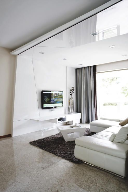 10 elegantly clean cut tv console and feature wall design - Feature wall ideas for living room ...