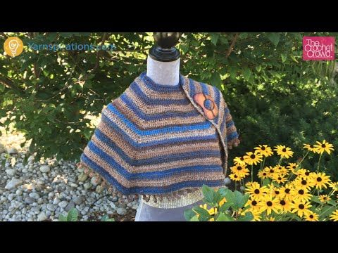 Cool Casual Shawl + Tutorial - The Crochet Crowd Pattern here : http://www.yarnspirations.com/patterns/casual-cool-shawl.html