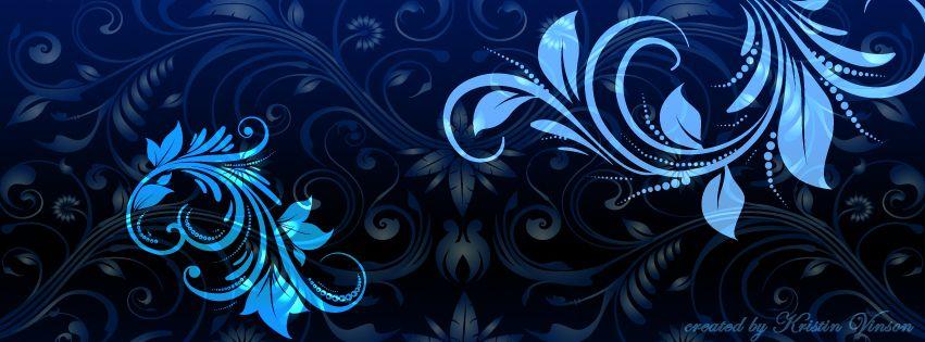 blue flourish facebook cover by crystalkittycat on deviantart