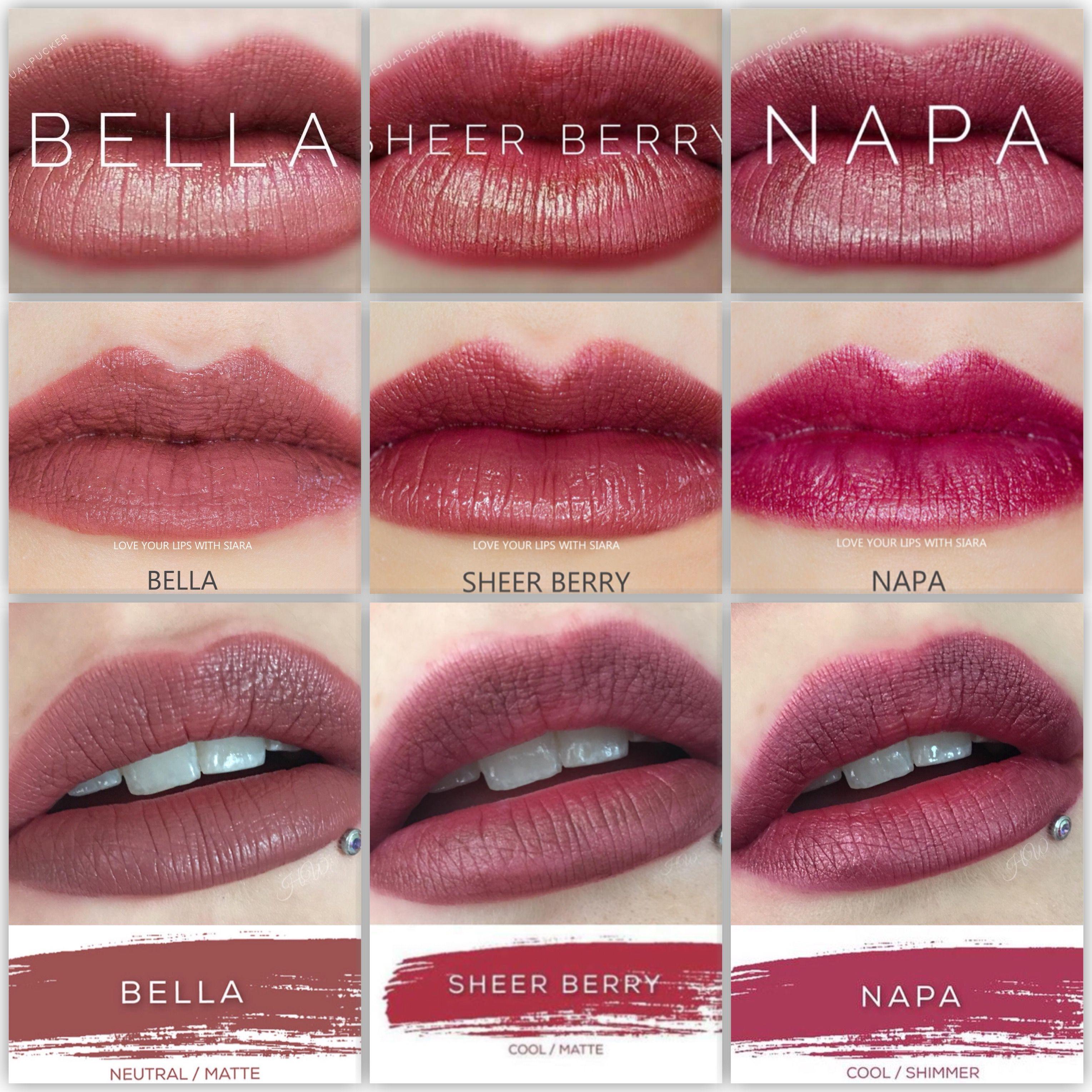 bella vs sheer berry vs napa lipsense lipsense comparisons in