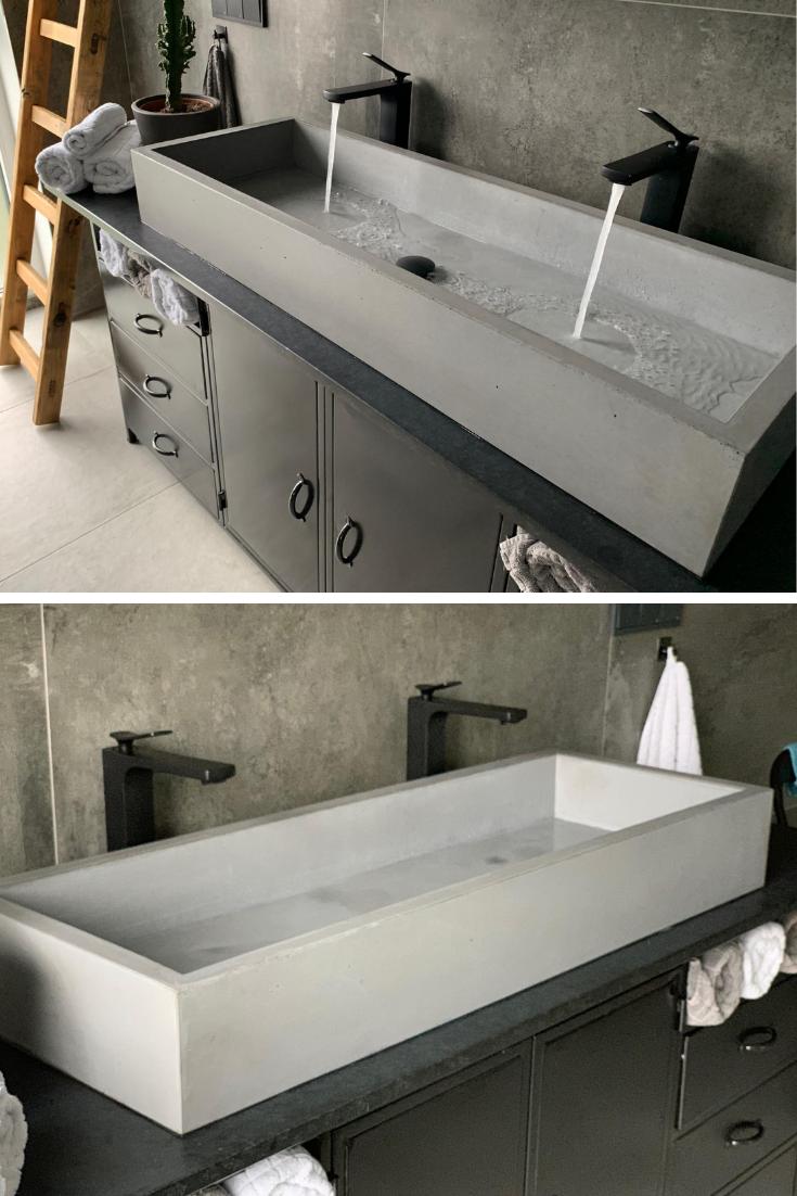 Betonwaschbecken Xl Betonwaschbecken Badezimmer Waschbecken Waschbecken