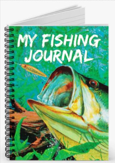 My Fishing Journal Fisherman S Notebook A5 Spiral Etsy Fish Fishing Trip Fishing Gifts