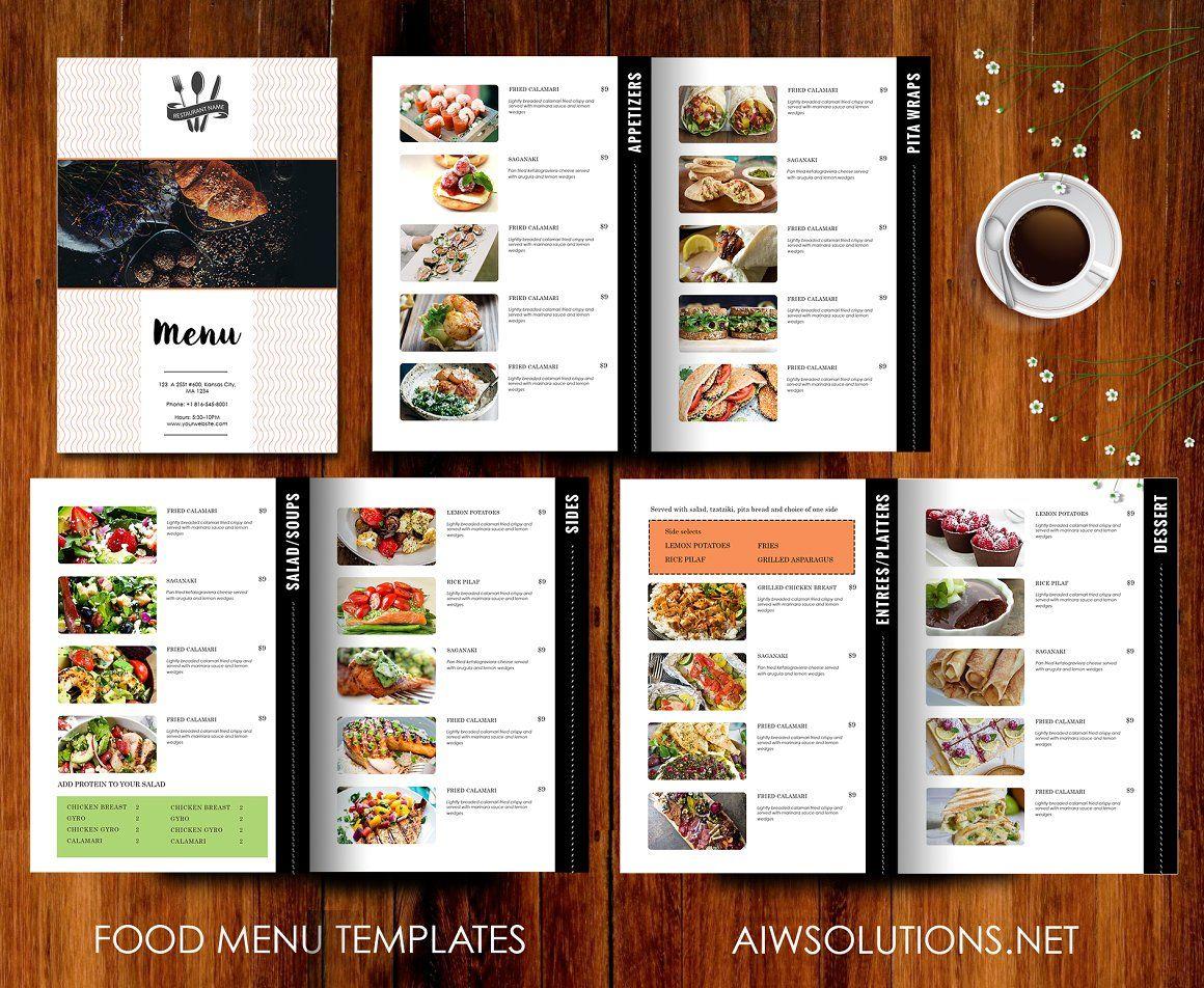 Restaurant Menu Template Brochures Food Menu Template Menu Design Template Restaurant Menu Template