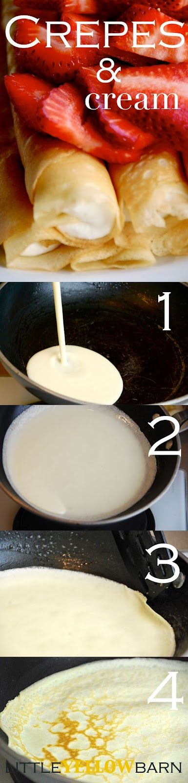 Darn good crepe recipe; crepes & cream