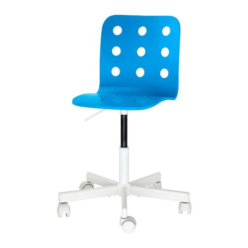 Jules Sedia Da Scrivania Per Bambini Blu Bianco Ikea It Kids Desk Chair Childrens Desk And Chair Desk Chair Diy