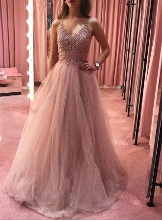 usd$339.00 - designer abendkleider lang rosa