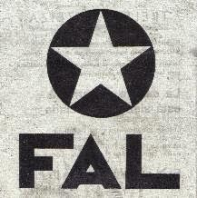 Emblema del Frente Argentino de Liberación, luego Fuerzas Argentinas de Liberación, que eventualmente, separadas en distintas facciones, se integraron en el ERP y en Montoneros.